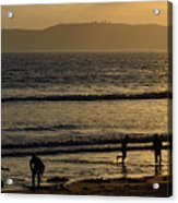 Point Loma California Surfers Acrylic Print