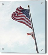Point No Point American Flag Acrylic Print