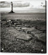 Point Of Ayre Lighthouse Acrylic Print