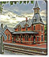 Point Of Rocks Train Station Acrylic Print