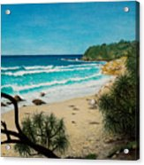 Point Perry Coolum Beach Acrylic Print
