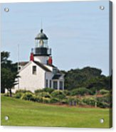 Point Pinos Light - Lighthouse On The Golf Course - Pacific Grove Monterey Central Ca Acrylic Print by Christine Till