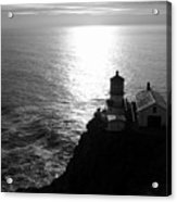 Point Reyes Lighthouse - Black And White Acrylic Print