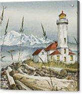 Point Wilson Lighthouse Acrylic Print by James Williamson