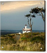 Point Wilson Lighthouse Puget Sound Watercolor Acrylic Print