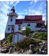 Pointe Au Baril Lighthouse Acrylic Print