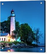 Pointe Aux Barques Lighthouse At Dawn Acrylic Print