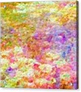 Pointillist Colour Acrylic Print