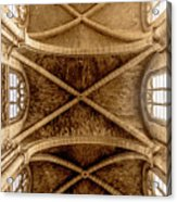 Poissy, France - Ceiling, Notre-dame De Poissy Acrylic Print