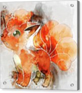 Pokemon Vulpix Abstract Portrait - By Diana Van Acrylic Print