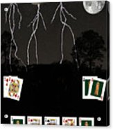 Poker Cards Acrylic Print