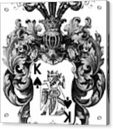 Poker King Spades Black And White Acrylic Print