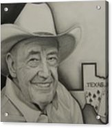 Poker Legend Acrylic Print