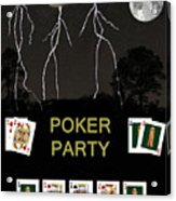 Poker Party  Poker Cards Acrylic Print