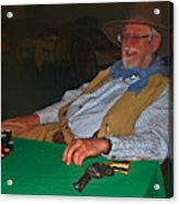 Poker Player Acrylic Print