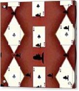 Poker Sharks Acrylic Print