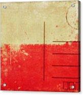 Poland Flag Postcard Acrylic Print