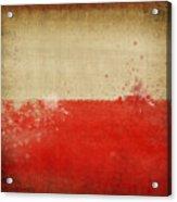 Poland Flag  Acrylic Print