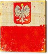 Poland Flag Acrylic Print by Setsiri Silapasuwanchai