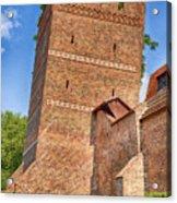 Poland, Torun, Crooked Tower. Acrylic Print