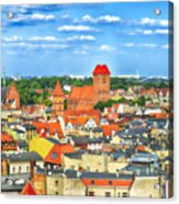 Poland, Torun, Urban Landscape. Acrylic Print