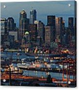 Polar Pioneer Docked In Seattle Acrylic Print