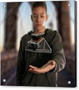 Polaroid Sx-70 On The Brooklyn Bridge Acrylic Print