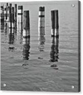 Poles In The Water Acrylic Print