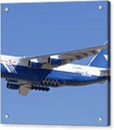 Polet Antonov An-124 Ra-82080 Landing Phoenix-mesa Gateway Airport January 14  Acrylic Print