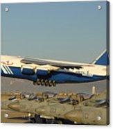 Polet Antonov An-124 Ra-82080 Taking Off Phoenix-mesa Gateway Airport January 15 2011 Acrylic Print