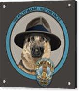 Police Dog Acrylic Print