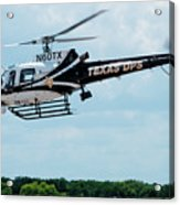 Police Helicopter Taking Off Acrylic Print