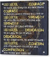 Police Officers Prayer Acrylic Print
