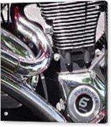 Polished Motorcycle Chrome Acrylic Print