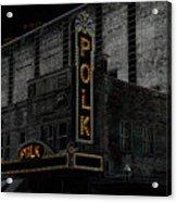 Polk Movie House Acrylic Print by David Lee Thompson