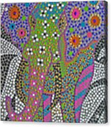 Polka Dot Ganesha Acrylic Print by Vijay Sharon Govender
