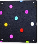 Polka Dot Umbrella Acrylic Print