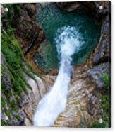 Pollat River Waterfall - Neuschwanstein Castle - Germany Acrylic Print