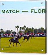 Polo Match Florida Acrylic Print