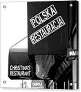 Polska Restauracja Acrylic Print