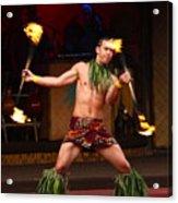 Polynesian Fire Dancing Acrylic Print