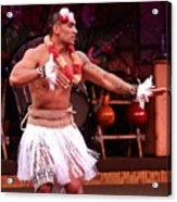 Polynesian Warrior Dancer Acrylic Print