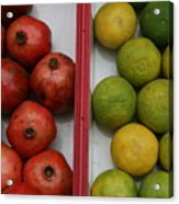 Pomegranate And Sweet Lime Acrylic Print