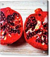 Pomegranate Cut In Half Acrylic Print