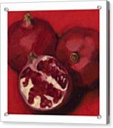 Pomegranite Trio Acrylic Print