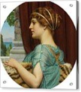 Pompeian Lady Acrylic Print