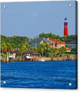 Ponce Inlet Waterfront And Lighthouse Acrylic Print