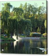 Pond At Mae Stecker Park In Shelby Township Mi  Acrylic Print