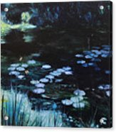 Pond At Port Meirion Acrylic Print