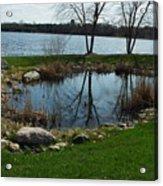 Pond By The Lake Acrylic Print